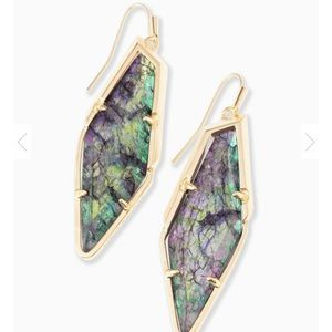 Bexley Drop Earrings In Navy Crackle Illusion